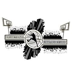 Logo basketball championship vector image