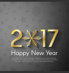 Golden new year 2017 concept on grey vintage vector