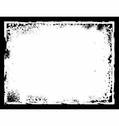 grunge border frame vector image