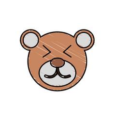 cute bear drawing animal vector image