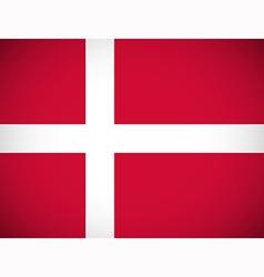 National flag of denmark vector