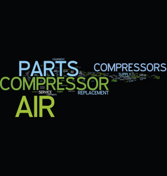 Find components air compressors and compressed vector