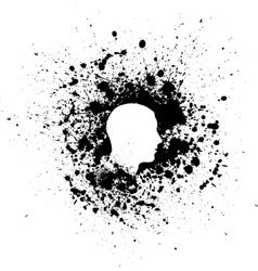 Head ink blots vector image
