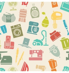 Light seamless pattern of home appliances vector