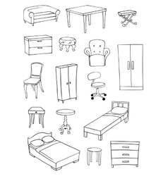 Furniture set vector