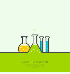 The concept of chemical science research lab vector