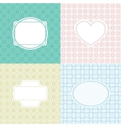 Mono line graphic design template labels vector