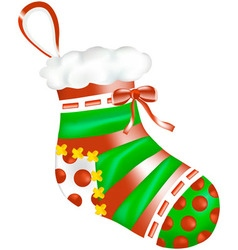 Sock a patch in peas on a stocking vector