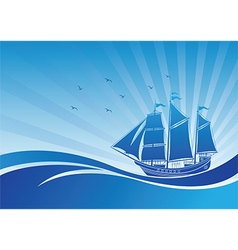 Sail ship background3 vector