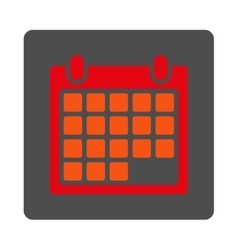 Month rounded square button vector