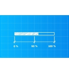 Digiral download bar on a blueprint background vector