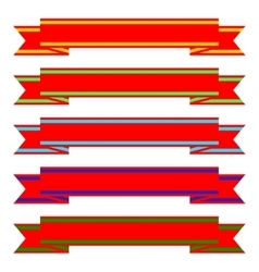 A set of ribbons vector