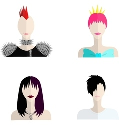 Four subcultures icons vector