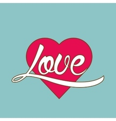 Love and heart design  valentines related icon vector