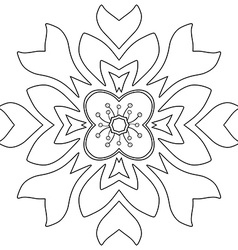 Floral ornament coloring page vector