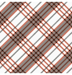 Seamless twill tartan pattern plaid black red vector