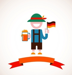 Oktoberfest background - man with beer vector