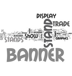 Banner stands text word cloud concept vector