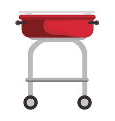 Barbecue grill isolated vector
