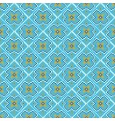 Blue winter seamless pixel pattern vector