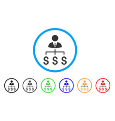 boss payments rounded icon vector image vector image