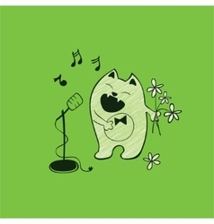 Cat and song vector image