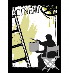cinema design vector image vector image