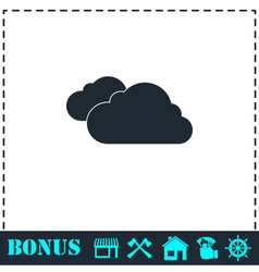 Clouds icon flat vector
