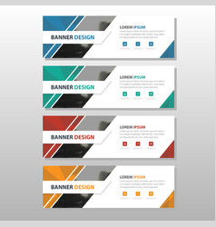 Colorful abstract corporate business banner vector