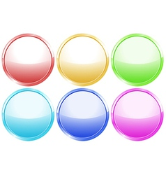 Colorful round web buttons vector image