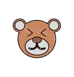 cute bear drawing animal vector image