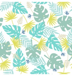 Exotic leaves pattern vector image