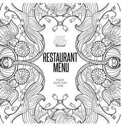 Floral frame for restaurant menu vector