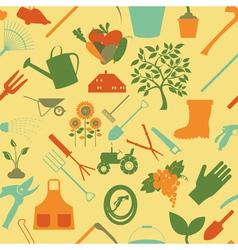 Gardening background Seamless Pattern vector image