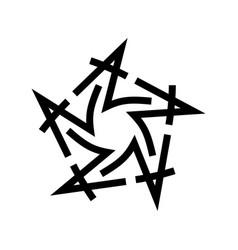 graphic star logo black star made vector image