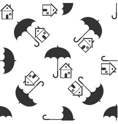 house with umbrella real estate insurance vector image