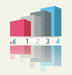 Modern Graph Design template vector image