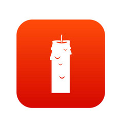 Paraffin candle icon digital red vector