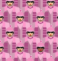 Pink army seamless pattern background of pink vector