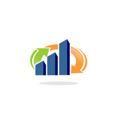 progress financial chart vector image
