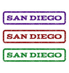 San diego watermark stamp vector