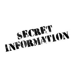 Secret information rubber stamp vector