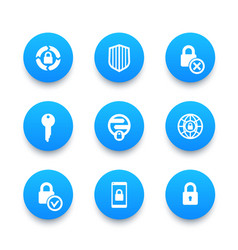 security icons set secure transaction vector image vector image