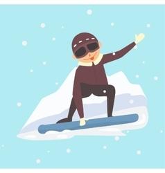Snowboarder jump vector