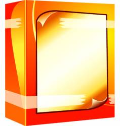 software box with note vector image