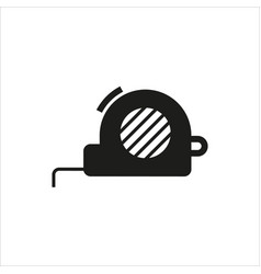 tape measure icon on white background vector image