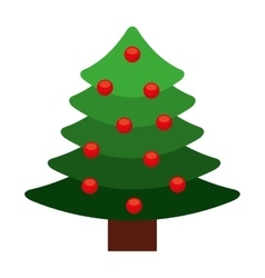 tree pine christmas isolated icon vector image vector image