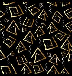 tribal meander seamless pattern black geometric vector image