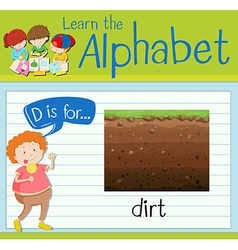 Letter d is for dirt vector