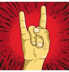 Rock n roll symbol - human hand - gesture vector